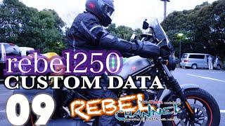 rebel250 CUSTOM DATA 09 レブル カスタム 積載 キャンプ Diabro ディアブロ ウインドスクリーン   #レブル250 #rebel250 #REBELCHANNEL