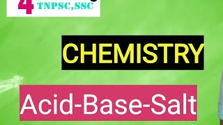Acid , Base, Salt - Chemistry | Tamil/English|