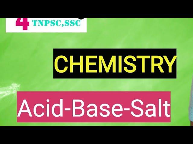 Acid , Base, Salt - Chemistry | Tamil/English|