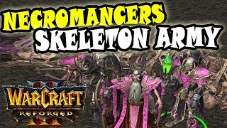 Warcraft Reforged UNDEAD 2vs2 GAMEPLAY | Mass Necromancers + Skeletons!
