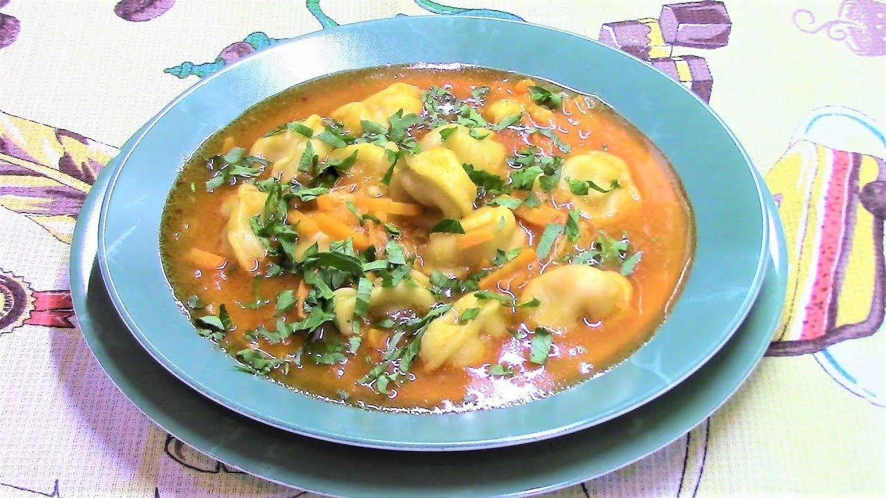 Суп с пельменями - вкусно быстро и просто. - YouTube