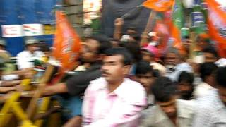 BJP youth in action with Kolkata police on 30th November 2010