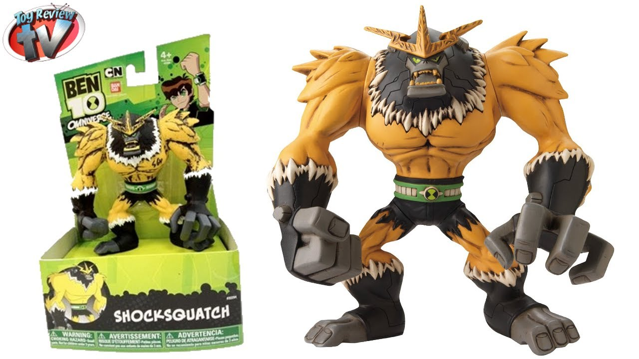Ben 10 Omniverse Shocksquatch Hyper Alien Action Figure Toy Review