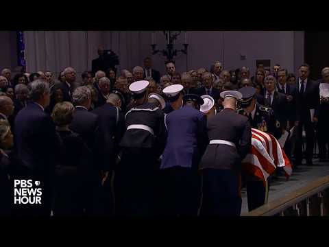 WATCH: George H.W. Bushs casket arrives at his funeral in Texas
