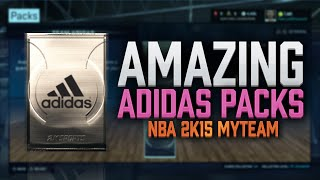 NBA 2K15 My Team Pack Opening - Team ADIDAS Packs! So AMAZING! PS4