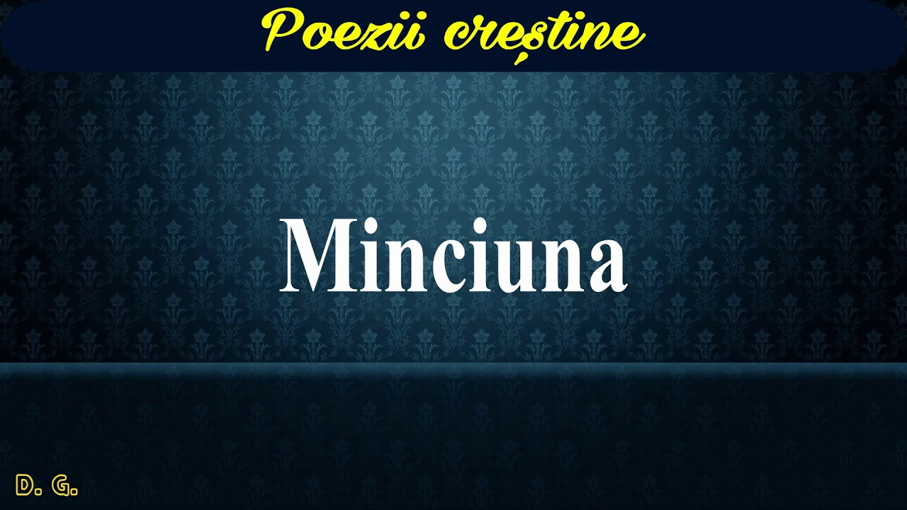Minciuna - Poezii creştine