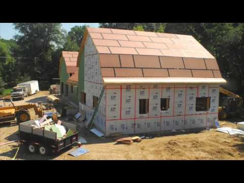 High Efficiency House Build Time Lapse Youtube