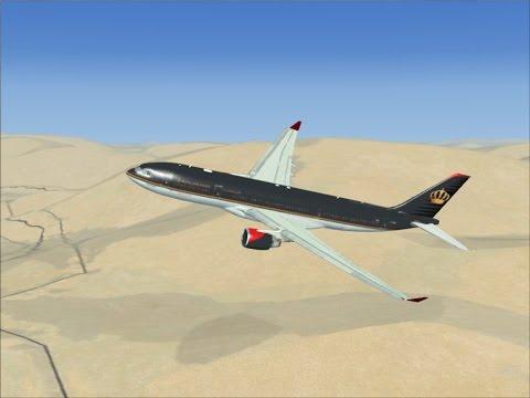 Полёт на A332  Royal Jordanian Airlines FSX