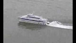 Austal 40 catamaran jet ferry model