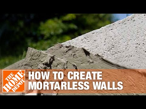 How to Use Sakrete Bonding Cement to Create Mortarless Walls | The Home Depot