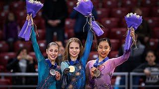Victory Ceremony Ladies World Junior Championships 2018