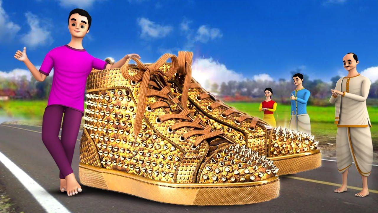 தங்க காலணி - Golden Shoes Story in Tamil   3D Animated Tamil Moral Stories   Maa Maa TV Fairy Tales