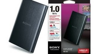Sony 1 TB External Hard Disk Unboxing Review