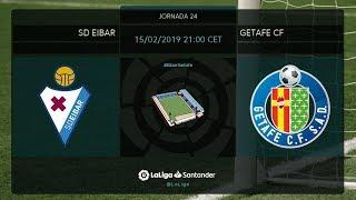 Calentamiento SD Eibar vs Getafe CF