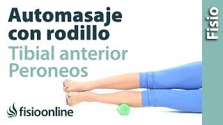 Auto-masaje de peronéos y tibial anterior con rodillo