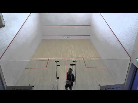 Norfolk squash teams EA2 Jamie Foyster v Cromer Steve Watts