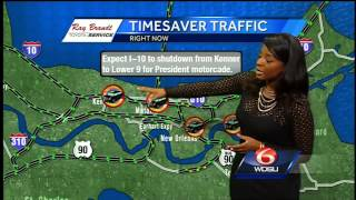 Traffic delays expected as President Obama makes way to New Orleans