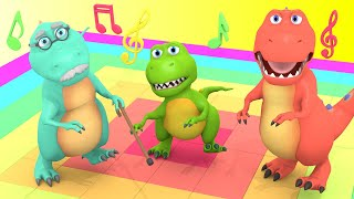 Dinosaur Stomp SOng | Baby T-Rex Song & Dance | Dinosaurs Cartoon for Children
