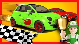 Race cars for kids OR Race car cartoons for children - Handy Andy