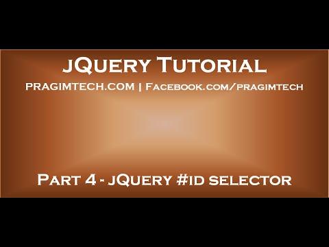 JQuery #id Selector
