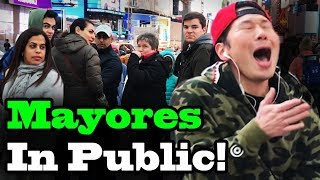 BECKY G, BAD BUNNY - Mayores - SINGING IN PUBLIC!!