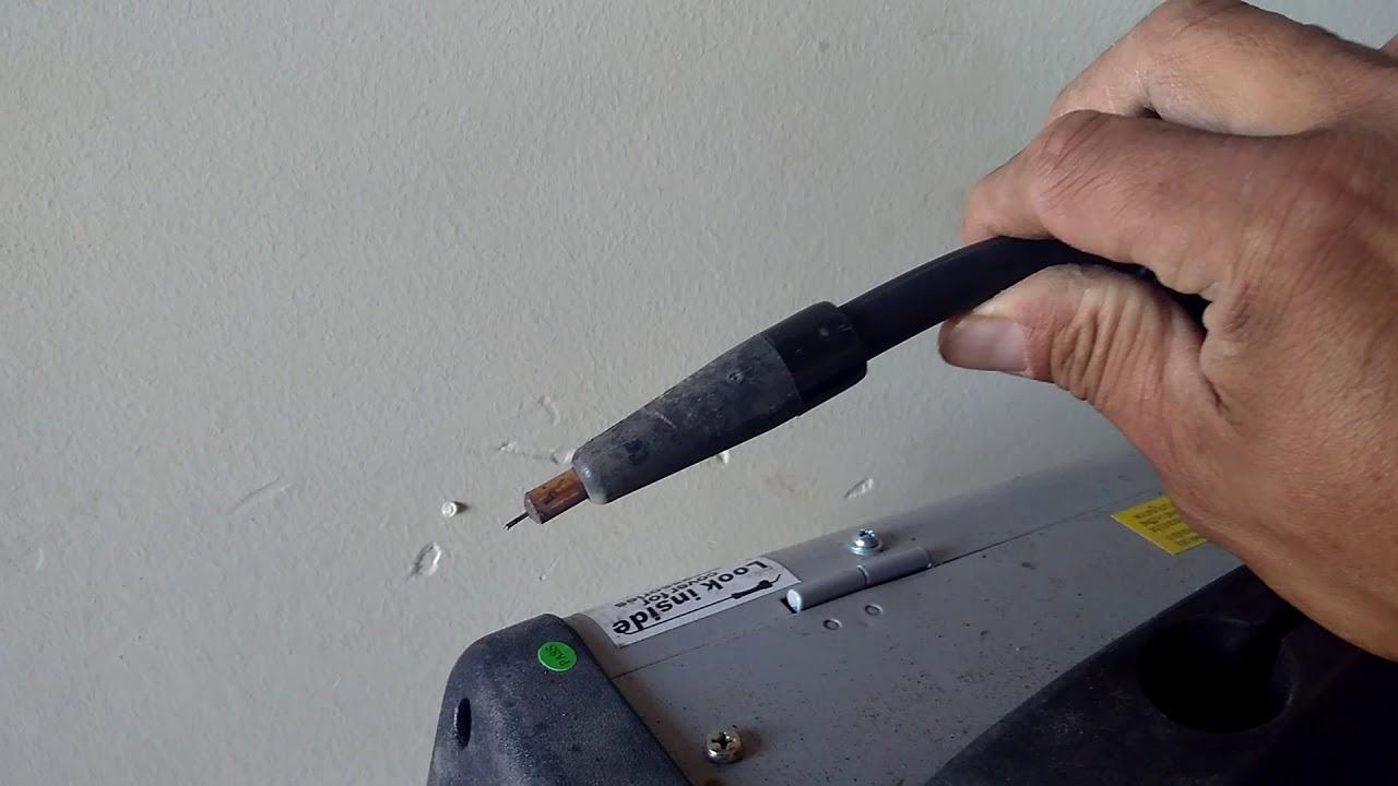 Jobsmart gaseless flux cored welder review - YouTube