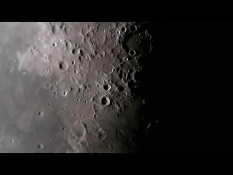"Moon through 8"" newtonian telescope"