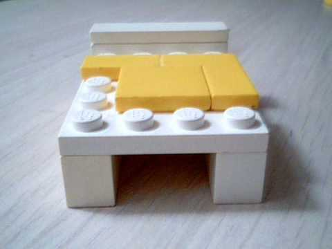 LEGO tutorialHow to make a bed YouTube