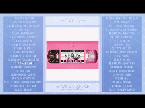 ♡ 2013 K-Pop Girl Groups | PLAYLIST ♡