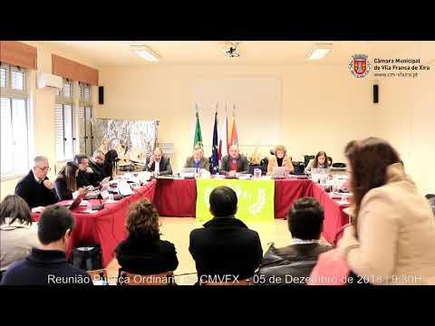 Reunião ordinária e pública da CMVFX (05/12/2018 - Forte da Casa)