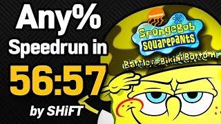 SpongeBob SquarePants: Battle for Bikini Bottom Any% Speedrun in 56:57 (WR on 3/13/2018)
