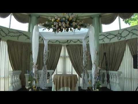 CHUPPAH WITH FLOWERS FOR WEDDING AT THE MANSION IN VOORHEES, NJ