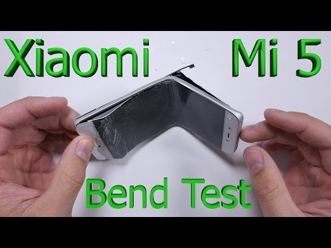 Xiaomi Mi5 Bend Test - Scratch test - Burn test - Durability test