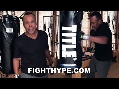 "SUGAR RAY LEONARD STILL GOT FAST HANDS AND POP AT 61 YEARS OLD: ""CAN YOU KEEP UP"""
