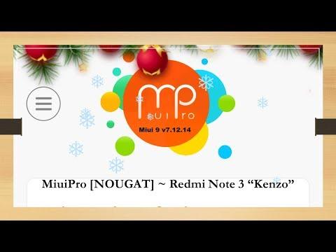 MiuiPro [NOUGAT] || Miui 9 ROM || v7 12 28 (Link) || Kisasanya