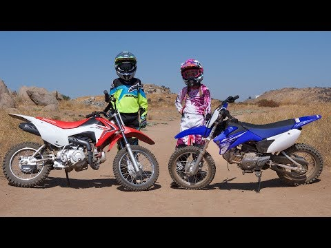 2017 Honda CRF110F vs. Yamaha TT-R110E Motorcycles Are For Kids