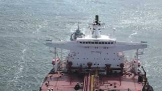 San Francisco - Chevron Tanker Ship Sailing Under Golden Gate Bridge While On My Road Bike