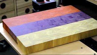 """Making An """"armenia Flag"""" End Grain Cutting Board"""