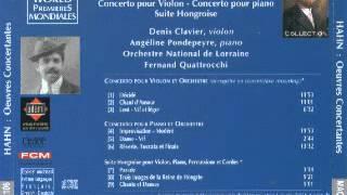 Reynaldo HAHN, concerto pour violon et orchestre 02 - Chant d