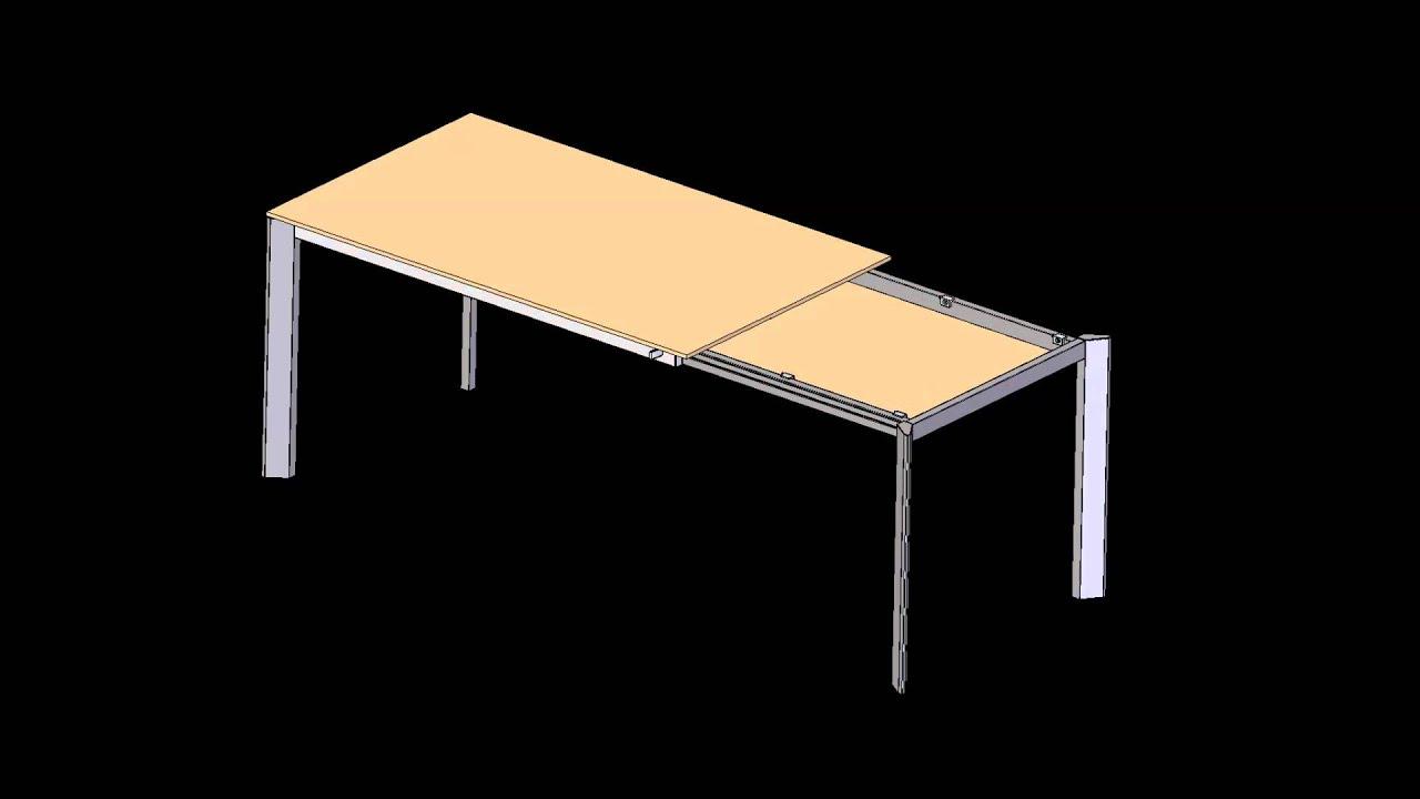 F12 ECO meccanismo per tavolo con allunga di testa manuale - YouTube