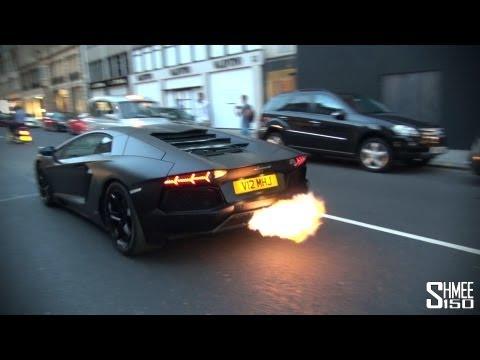 CRAZY FLAMES – Matte Black Lamborghini Aventador