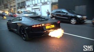 CRAZY FLAMES - Matte Black Lamborghini Aventador