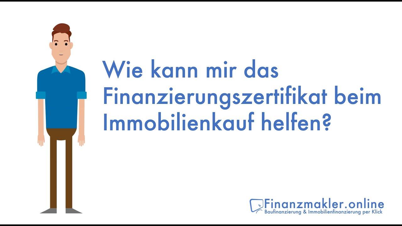 Erklärvideo: Wie kann mir das Finanzierungszertifikat beim Immobilienkauf helfen?
