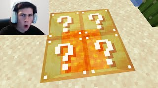 I trolled a Streamer with fake Lucky Blocks in Minecraft...