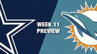 Cowboys vs. Dolphins Preview (Week 11) | NFL