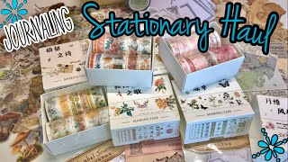 Stationary Haul for journaling // collage layout in JJ/ washi giveaway
