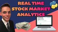 Real Time Stock Market Data Analysis with Python - Five Minute Python Scripts