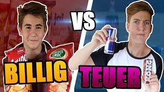 BILLIG vs TEUER (Süßigkeiten Challenge) | FilmBros