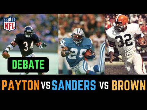 Jim Brown vs Barry Sanders vs Walter Payton DEBATE   Who is the Greatest NFL Running Back?