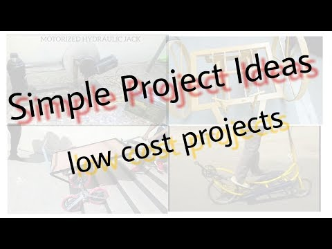 5 simple MECHANICAL ENGINEERING Project Ideas